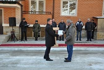 На  заставе «Архыз» пограничники получили ключи от квартир